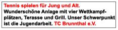 Tennis spielen in Brunnthal beim TCB